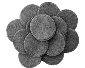 50 pc Charcoal 2 inch Felt Circles