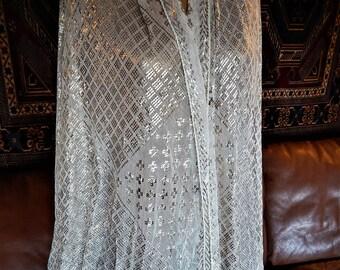 Assuit, Vintage Shawl, Bridal, Egyptian Revival, Egyptomania, Belly Dance, Tribal Fusion, Wedding, (82)