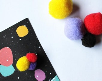 PIN small Pompoms / Little Bobble pines / Badge / Brooch / PIN For clothes, bag... / Single model!