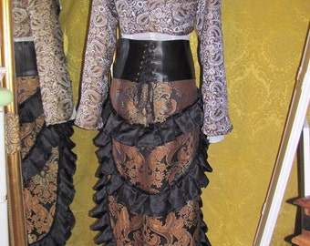 Steampunk ruffle skirt