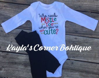 Mistle Toe, Too Cute, Christmas Outfit, Holiday Outfit, Christmas Baby, Christmas Gift