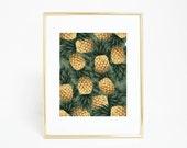 Botanical Print, Plant Print, Palm Print, Tropical Decor, Palm Beach Chic, Palm Digital Print Printable Artwork Banana Leaf Poster Art Print