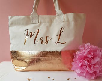 Metallic Personalised bag x 3