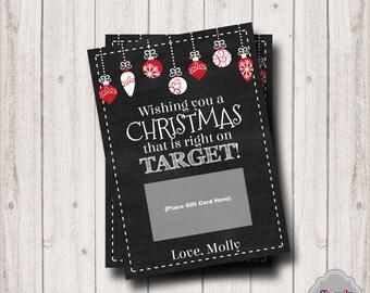 Target Christmas Gift Card Printable - XMAS004 - Target, Christmas, gift card, teacher, student, co-worker, boss, gift idea