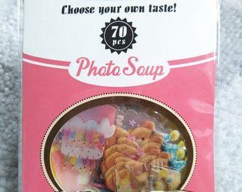 Photo Soup Sticker / flake stickers- Birthday party ST0095