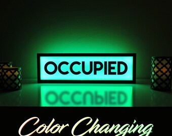 Occupied Sign Etsy