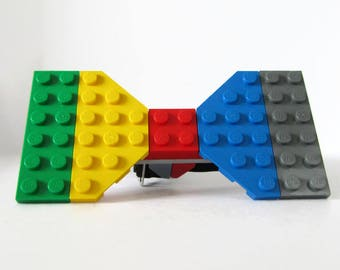 Bowtie for Son-Teen's Bowtie-Student Bowtie-Different Bow Tie-Gentleman Bowtie-Multicolored Bowtie-Colorful Bricks-Building Blocks-Geek Boy