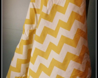 Gold Chevron Minky Stroller Blanket, Minky Blanket, Stroller Blanket, Gender Neutral Blanket