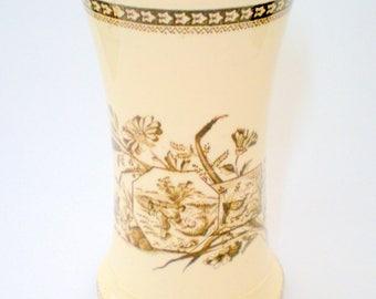 Aesthetic Transfer Seasons Staffordshire Vase / Holder