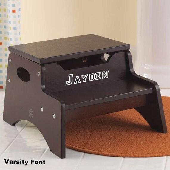 step stool with storage espresso. Black Bedroom Furniture Sets. Home Design Ideas