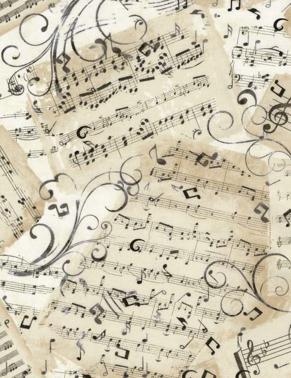 music notes fabric music sheets c4830 natural timeless