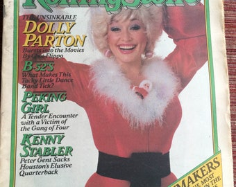 Dolly Parton,Parton Magazine,Country Music Star,Parton Collectible,Rolling Stone Magazine,80 Magazine,Parton GIft,Country Music,Parton Fan