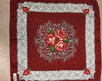 Vintage LAURA BIAGIOTTI silk scarf