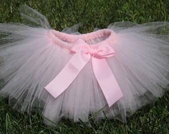 Pale Pink Tutu Skirt 'Fairy Floss' - newborn baby girl toddler child 6 12 24 months 1 2 3 4 5 6 7 8 years