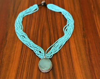 Bead Necklace, Pendant Necklace, Different Colors Available