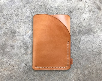 Trifold wallet in polished natural