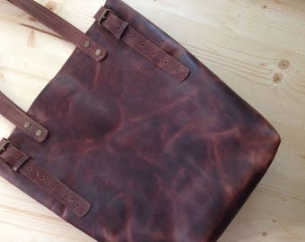 Best Price,Brown Leather Tote.Brown leather tote bag.Leather tote.Leather tote bag.Vintage leather tote.8