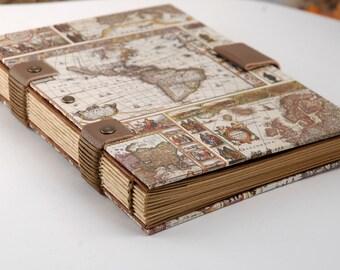 carnet de voyage cadeau homme reliure copte pour lui. Black Bedroom Furniture Sets. Home Design Ideas