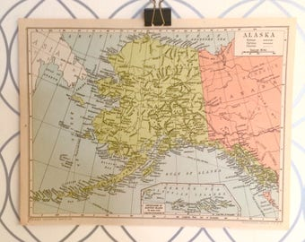 Antique Map of Alaska Atlas Published by Geographia Map Co. Inc. 1930 Alexander Gross FRGS (1879-1958)