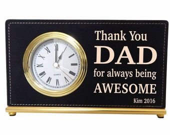 Dad Desk Clock, Father's Day Gift, Gift for Grandad, Gift for Husband, Gift for Daddy, Gift for Papa, Christmas Gift for Dad, LCD052