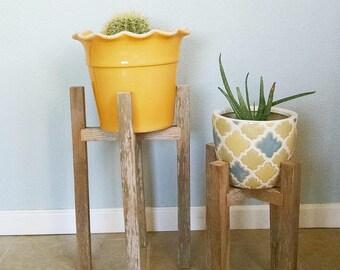 wood plant stand etsy. Black Bedroom Furniture Sets. Home Design Ideas