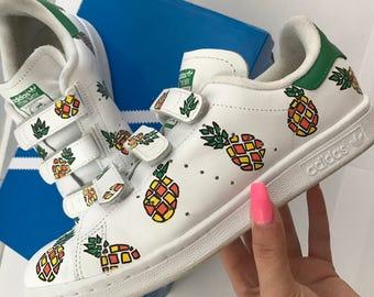 "Adidas Stan Smith custom ""Pineapple"""