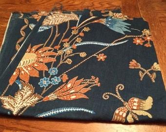 Vintage Blue Flowered Fabric