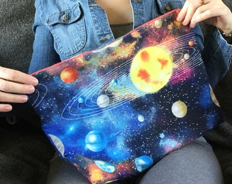 Travel Bag Huge Project Bag Large Zipper Bag Cosmetic Bag Gift For Space Lover March For Science Zipper Project Bag Gift For Science Lover