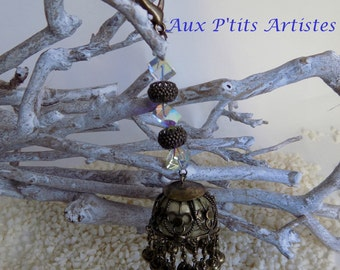 Key ring, jewel bag, filigree bells