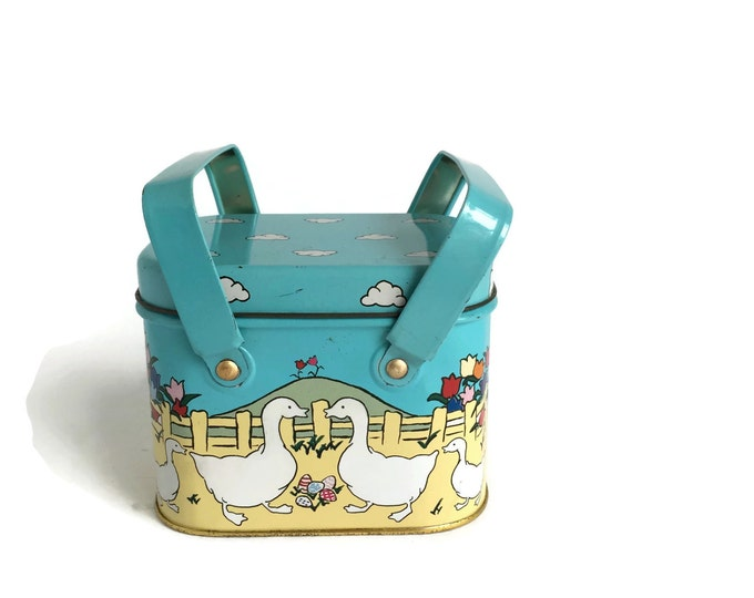 Tin Storage Container - Perfect for Kids Room Storage or Nursery Decor