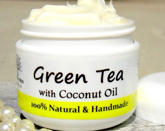 Anti Aging/Wrinkle cream - Green Tea Face Moisturizer with Brightening/Licorice Root (2oz)