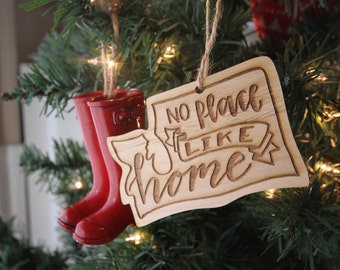 No Place Like Home Washington State Ornament