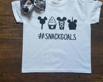 Snack goals, disneyworld, disney land, boy or girl shirt, dole whip , mickey ice cream