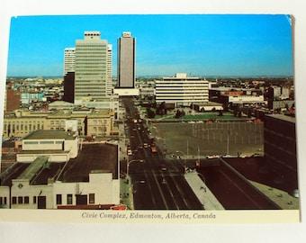 Civic Complex Edmonton Alberta Postcard / Edmonton Postcard / vintage Edmonton Souvenir / Majestic Postcard