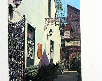 Bourbon Street New Orleans  postcard  1975 / Court of Two Sisters New Orleans / courtyard / Louisiana Postcard