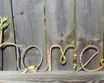 Home Wire Word Art Wall Decor Banner Sign