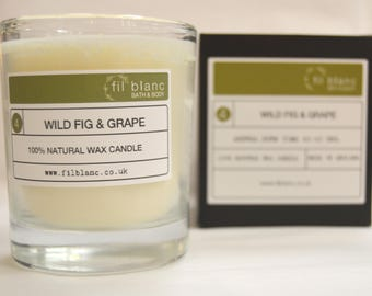 Wild Fig & Grape 100% Natural Wax Candle- Vegan Friendly