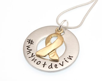 Devin Suau Fundraiser | #whynotdevin | DIPG Awareness Necklace | Hand Stamped Necklace | Fundraiser Jewelry | Awareness Jewelry