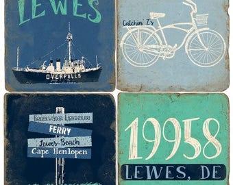 Lewes (1) Italian Marble Coasters (set of 4)