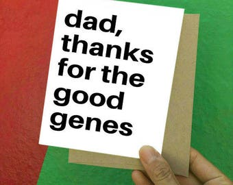 Thanks, Thank You, Father's Day Card, Funny Father's Day Card, Funny Thank You, Happy Father's Day, Father's Day, Card for Dad