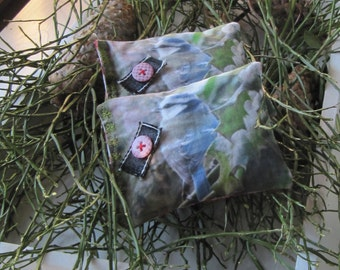 SET of 2 Lavender Sachets, Lavender in handmade, Christmas Gift, Blue Tit, Birds in Handmade, Homedecoration, Christmas in July