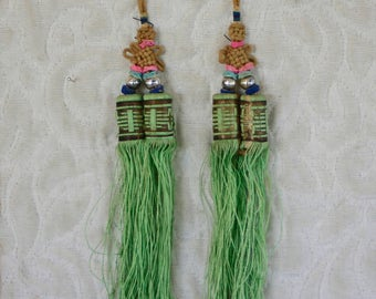 Matching pair of antique Chinese Qing Dynasty tassels
