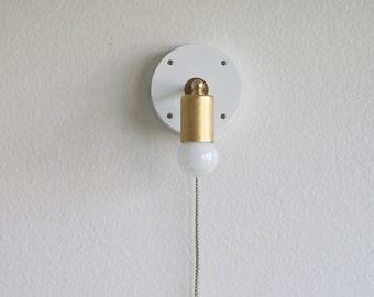 Plug-in  wall sconce modern lighting, Minimalist wall sconce lighting