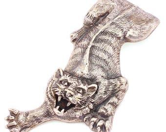 """Silver Money clip Banknote clip """"Tiger"""" small"""