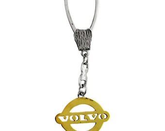 """Silver Keychain """"Volvo"""""""
