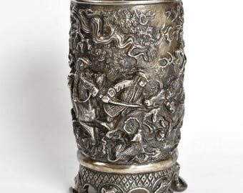 """Silver Goblet """"Hunting"""""""