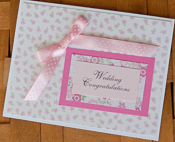 Wedding Card, Homemade Wedding Congratulations Card, Wedding Shower ...