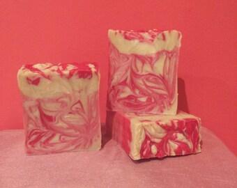 Raspberry Rose Hibiscus Soap