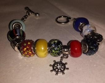 Charm Bracelet - sailor themed
