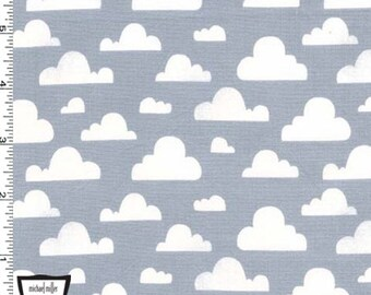 Pitter Patter - Cloudy Fabric - Gray - sold by the 1/2 yard